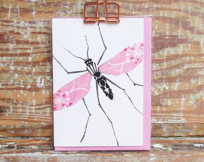 Pink & Black Long Legs Card
