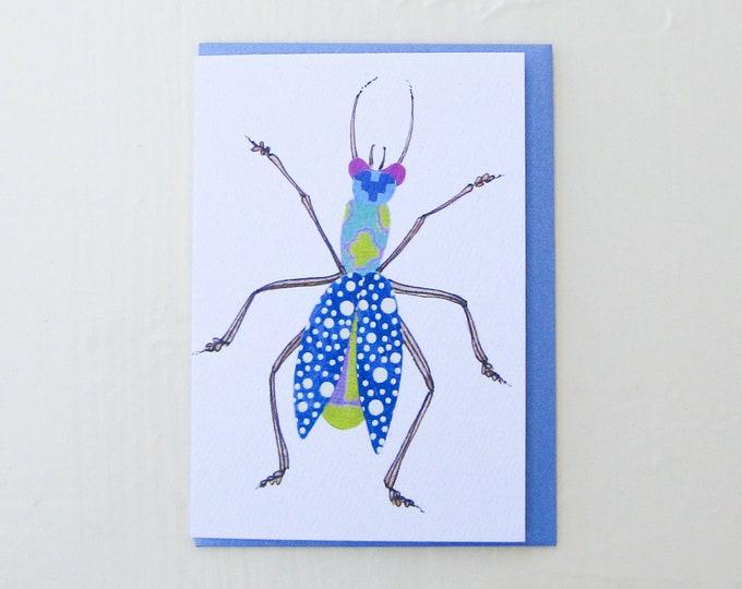 Bubbly Blue Bug Card