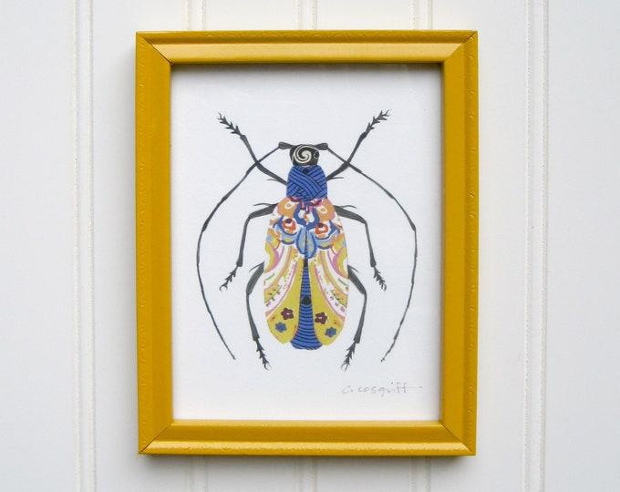 5 x 7 Framed Bug Print - Antennae for Days Bug