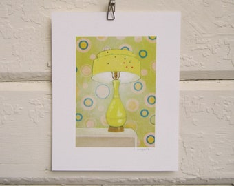 8 x 10 Lamp Print - Yellow Confetti