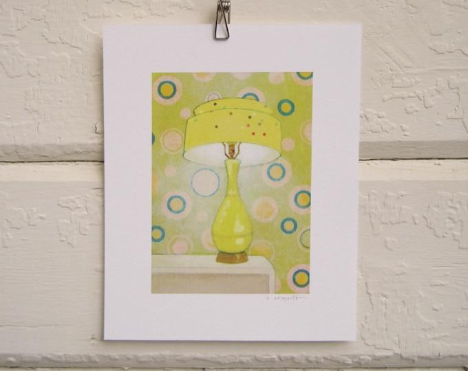 Yellow Confetti Lamp Print