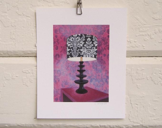 Velvet Wallpaper Lamp Print