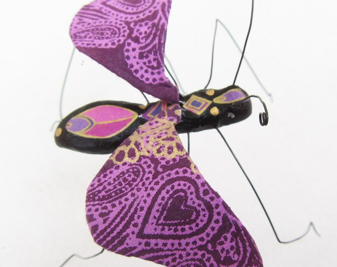 Purple Paisley Moth