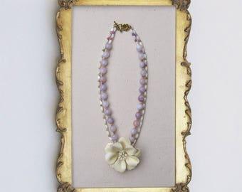 Honking Big Cream Bloom Necklace