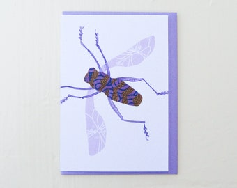 Lavender Lace Wing Moth Card