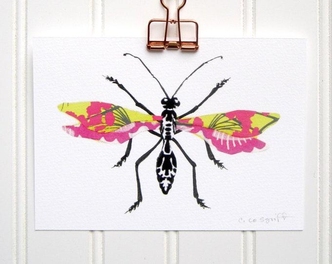 Spring Flowers Bug  Print