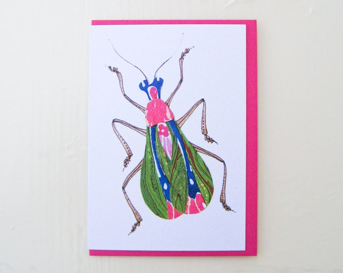 Art Nouveau Bug Card
