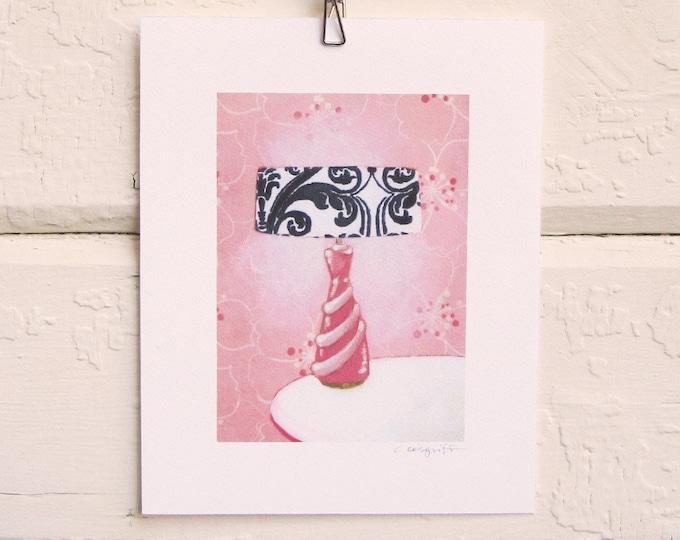8 x 10 Lamp Print - Pink Boudoir