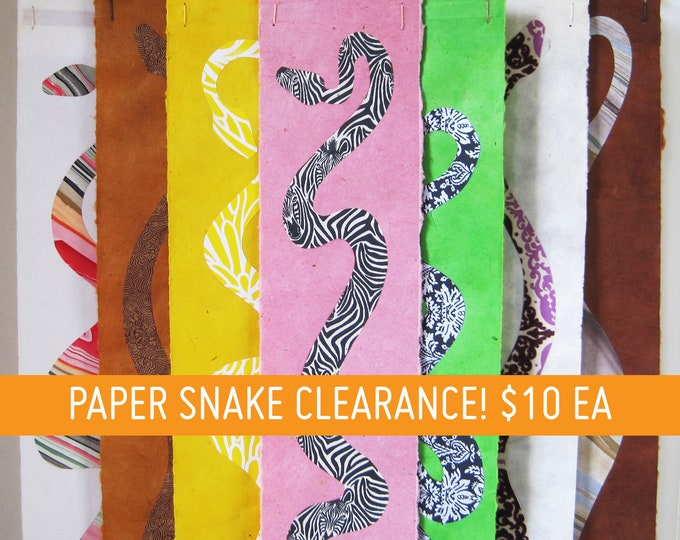 Paper Snake Collage Wall Hangings - SALE!