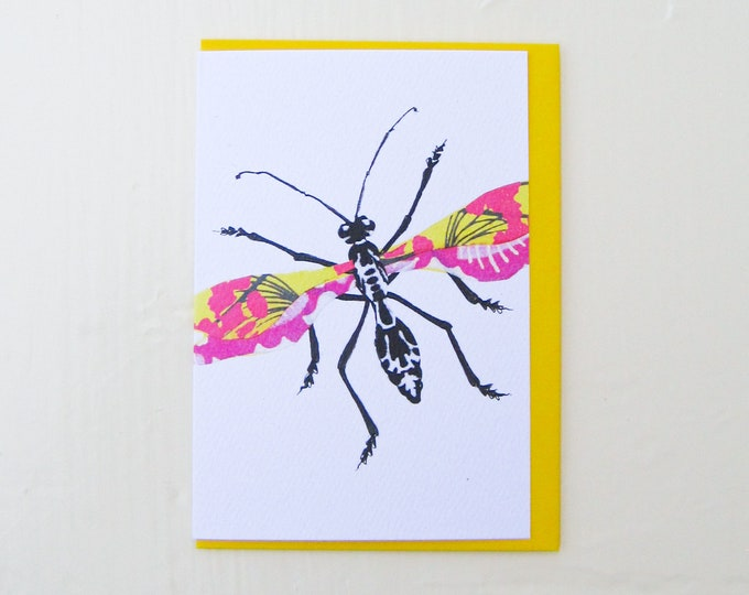 Spring Bouquet Bug Card