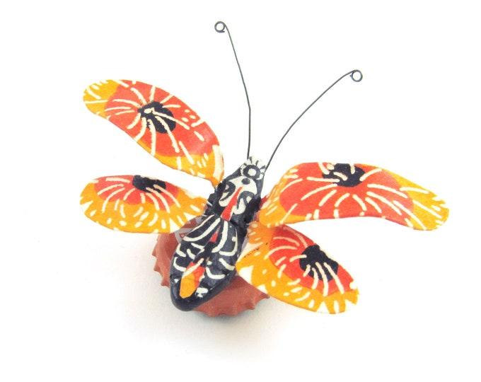 Tangerine Dream Bug Bottle Cap Refrigerator Magnet
