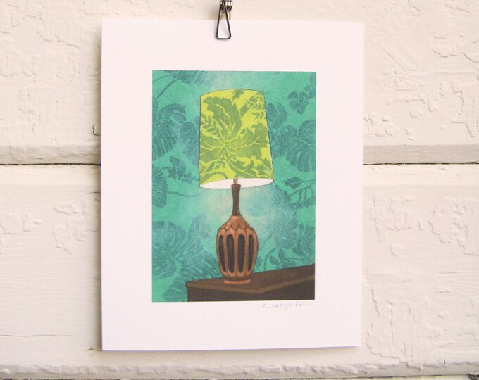 8 x 10 Lamp Print - Leafy Green