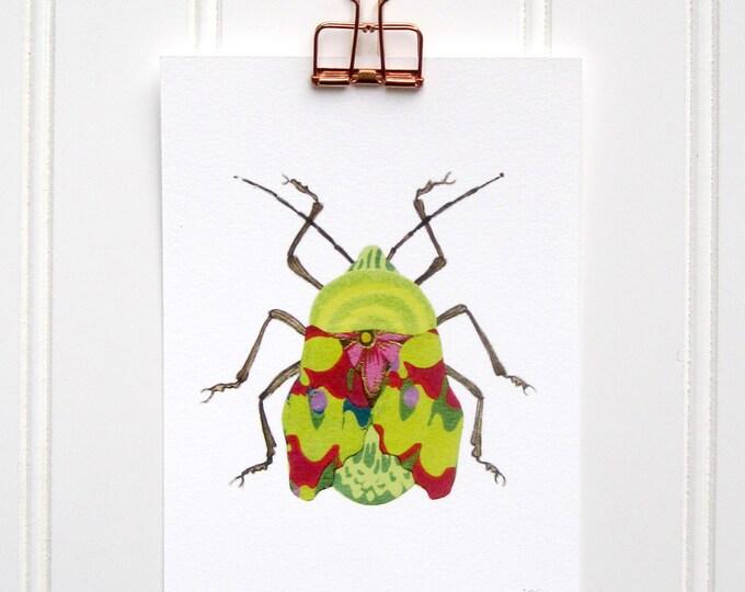 Groovy Green Beetle  Print
