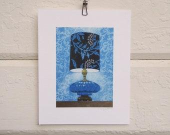 8 x 10 Lamp Print - Cool Blue