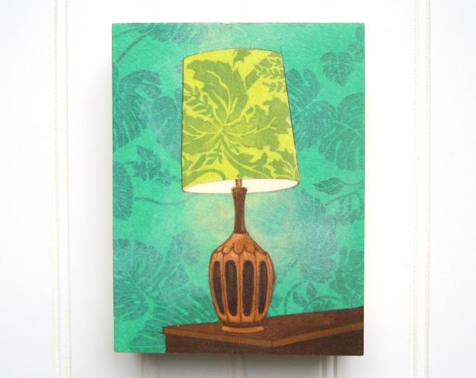 5 x 7 Lamp Print on Panel - Leafy Green