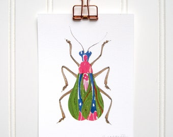 Art Nouveau Bug Print