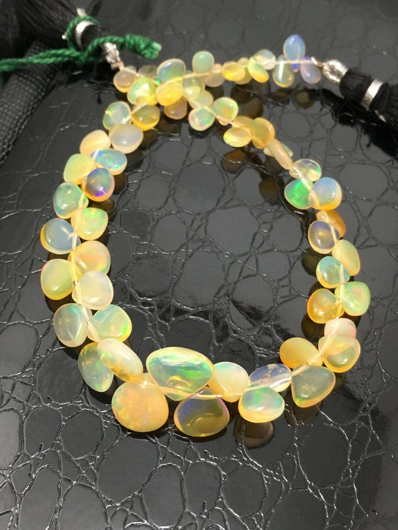 28 Carat Ethiopian Opal Beads Plain Hearts 4 to 8mm 8Gemstone BeadsEthiopian Opal BeadsWelo OpalFire Opal Beads