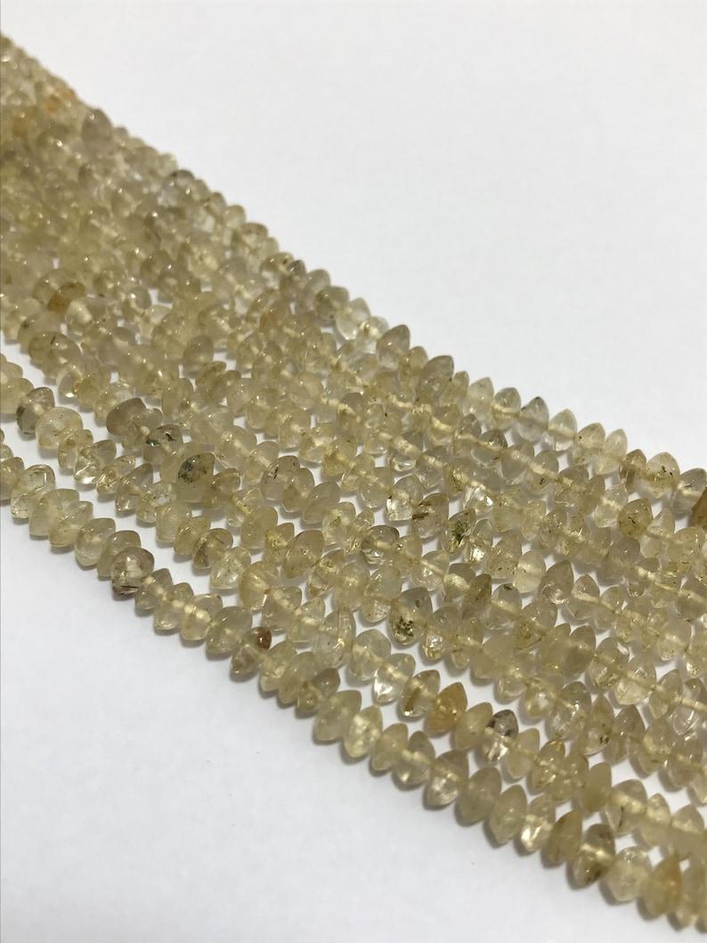On Sale Lot ofGolden Rutile Plain Rondelle 4 to 4.5 mm 13Gemstone Beadssemi Precious BeadsRare BeadsQuality BeadsBeaded Jewellery