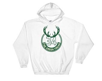 b2cf8de43a1 Milwaukee Bucks Giannis Antetokounmpo Greek Freak Sweatshirt