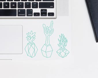 Indoor plants decal, Indoor plants set decal, glitter decal for laptop, car, macbook, wall