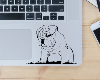 English Bulldog decal for laptop, car, macbook, wall