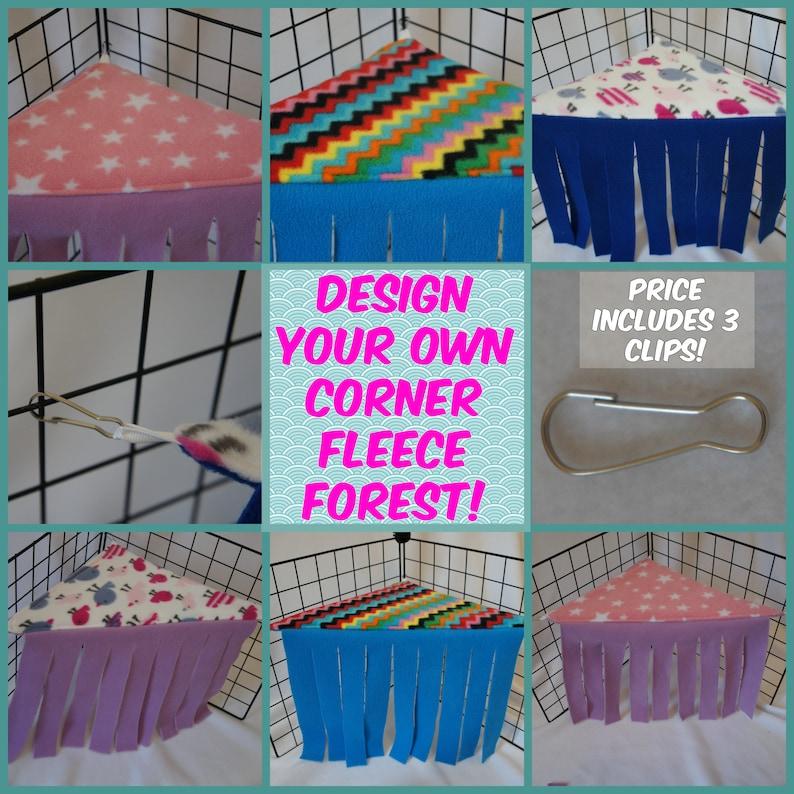 Fleece Forest for Guinea pigs  CUSTOM ORDER image 0