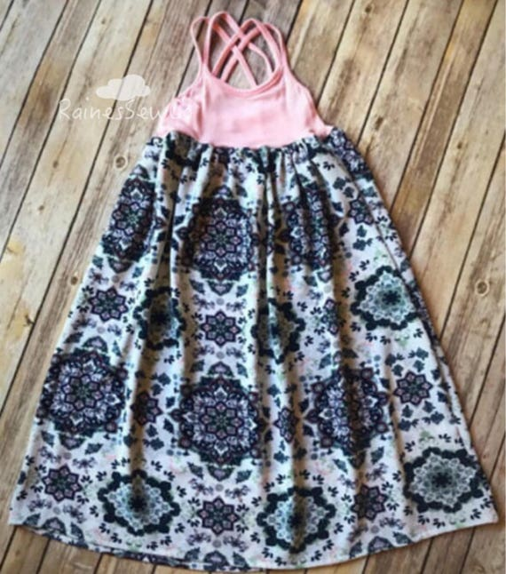 ed51e4d22dc4 Mommy and Me Maxi Dress-Mommy and Me Summer Dress-Boho
