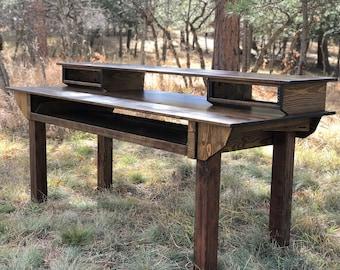 Custom Wood Studio Recording Desk
