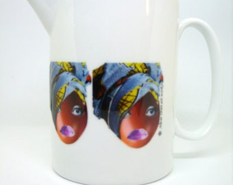 Boo Hoo Ethnic Teapot, Afrocentric Teapot, Teapot, Gift