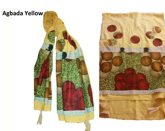 CHAMBRAY Hand made scarves, Antiguan Black Artsy Crafter,  Afro-centric inspired