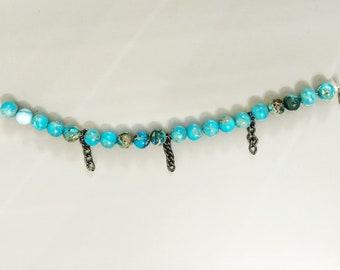 The Aqua beaded bracelet