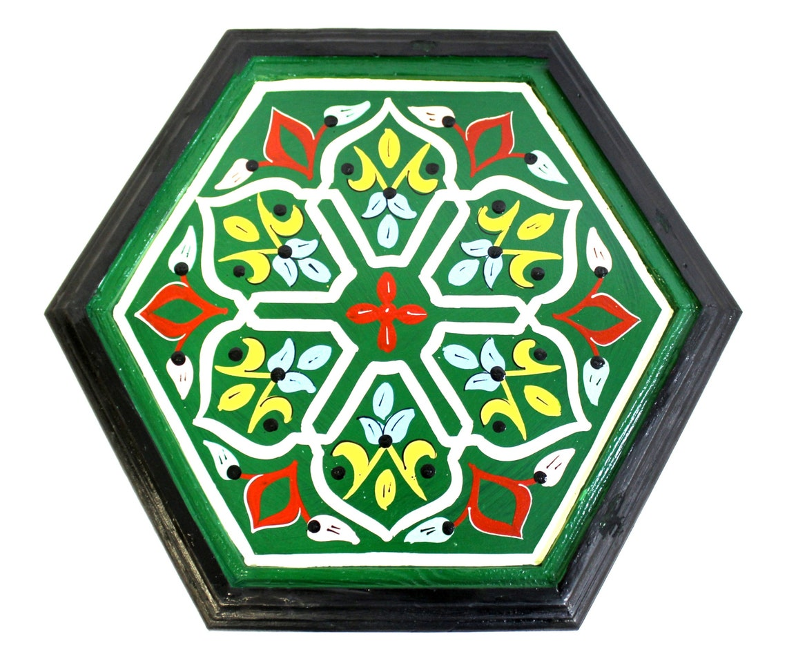 Moroccan Side Table Green Size 1