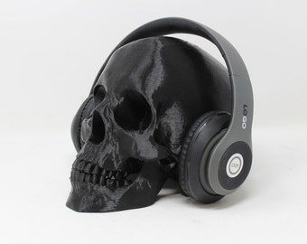 Human Skull Headphone Stand