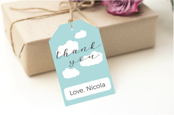 Thank You Tag Birthday Favor Tags Template Editable