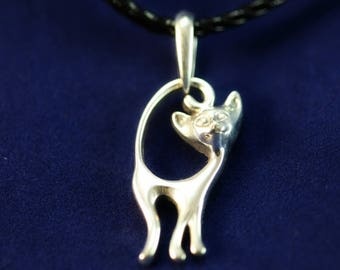 CAT PENDANT, silver cat, cat lover gift, kitty pendant, sterling silver CAT, Cat Jewelry, wILDLIFE