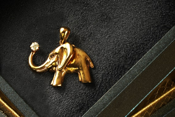 Elephant Necklace Indian Elephant Unisex Jewelry PD227 Filigreed Elephant Boho Pendant Silver Elephant Cute Elephant Charm