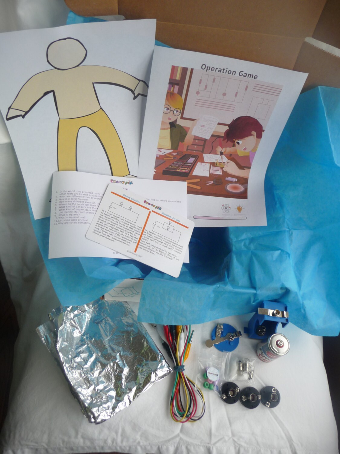 Build You Game Electric Circuits Science Projects For Kids Etsy Circuit School Project Middle Kit Educational Insulation