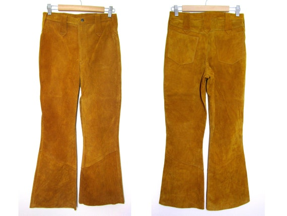 29x29 | 60s suede bellbottoms 70s leather bellbott