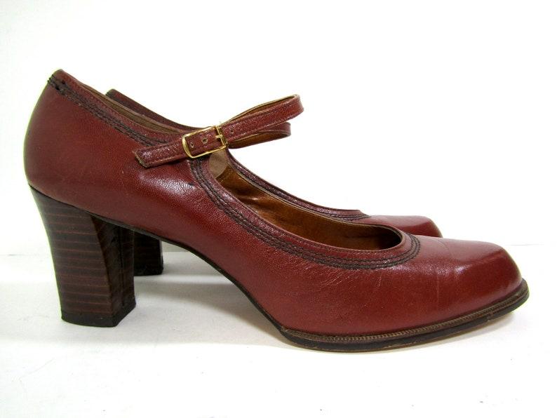 507fdc19125 Size 11 70s Socialites pumps 70s mary jane pumps vintage