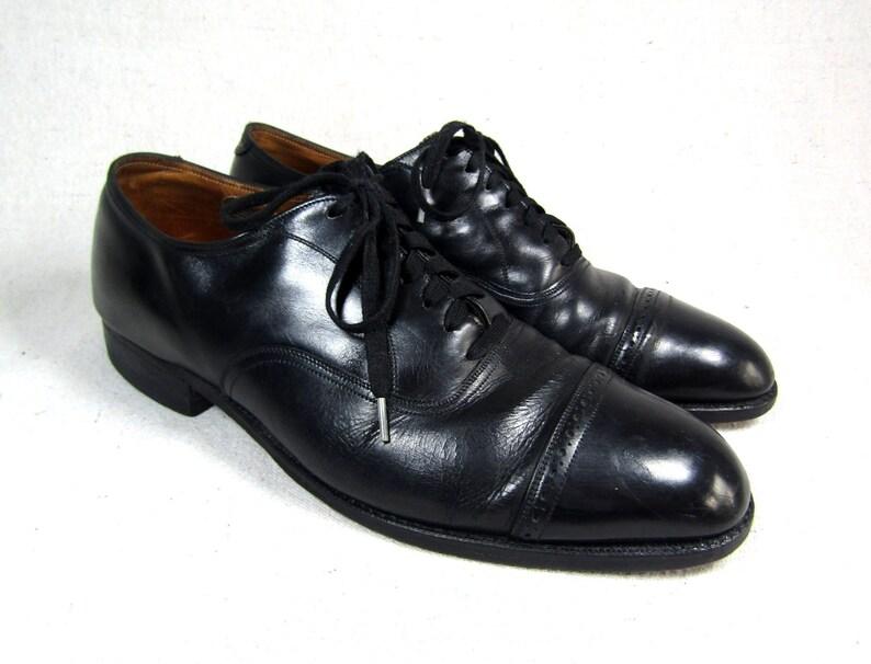SZ 9 | Oxford di Florsheim Balmoral oxfords annata uomo Florsheim shoes mens dress STRINGATE vintage shoes mens scarpe nere nero in scarpe