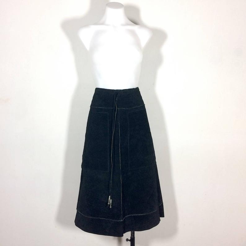 3877eaf083 Sz M vintage 90s Wilson Leather skirt / black suede leather | Etsy