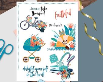 Bible Journaling Printable Art | Jesus Take The Wheel | Journaling Sticker | Bible Sticker | Digital Download Printable