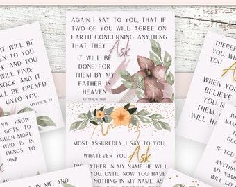 Prayer Cards Prayer Promises | Bible Affirmation Cards | Bible Verse Cards
