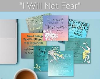 Scripture Card Set, Bible Verse Cards,  FEAR NOT Declaration/Scripture Cards