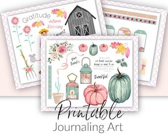Bible Journaling Printable Kit | Thanksgiving Theme | Scripture Journaling and Scrapbooking Art Printable