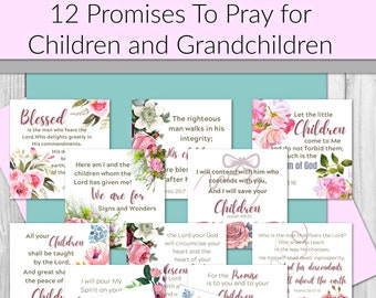 Prayer Cards|  Daily Affirmation Cards| Prayer Promise Cards | Scripture Promises | Gift for Mom/Grandma