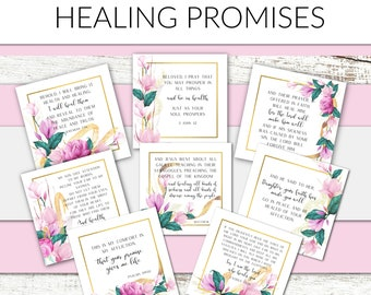Prayer Cards Healing Promises | Bible Affirmation Cards | Bible Verse Cards