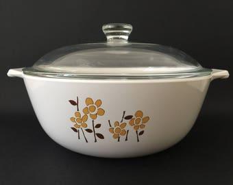 Vintage Doulton Ware Glass Ceramic 1.5L Casserole Dish & Lid