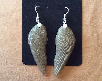 Resin Angel Wing Earrings