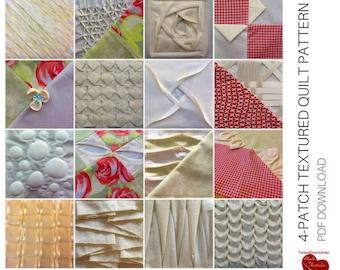 4-patch textured quilt top - PDF download
